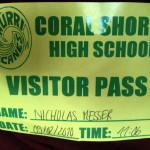 CSHS Visitor Pass - Florida Summer 2010